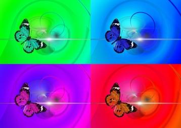 Popart-papillons